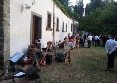 Puccio's Banda: aperitivo e cena con musica dal vivo al Matrimonio di Anna e Lorenzo al Convento del Carmine (Fivizzano) 29 Giugno 2019