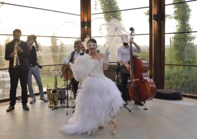 Puccio's Banda e Roberta Saccocci aperitivo jazz al matrimonio di Annalisa e Giuseppe alla Tenuta Corbinaia Firenze Montespertoli